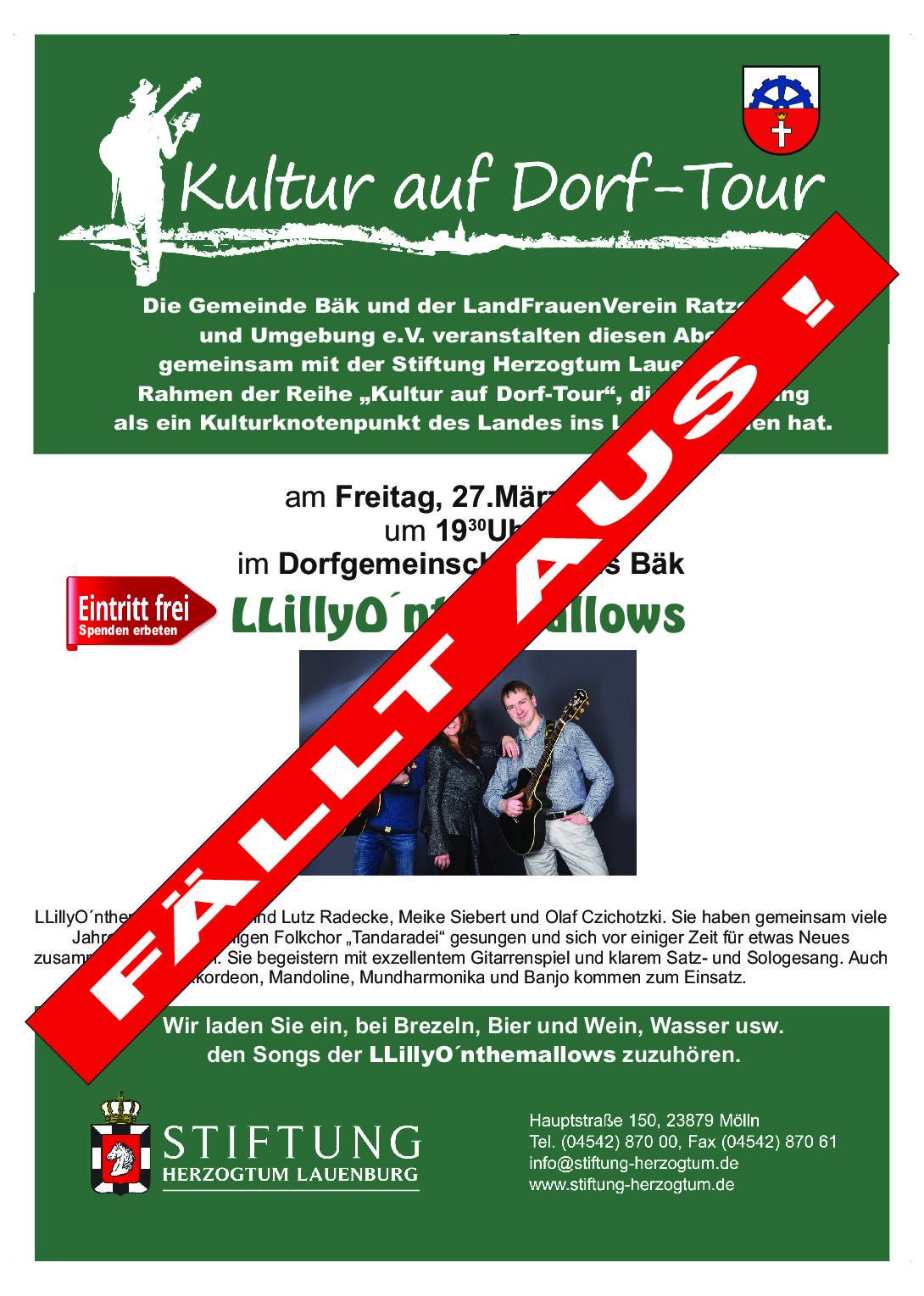 EILMELDUNG !! Absage für den 27.03.2020